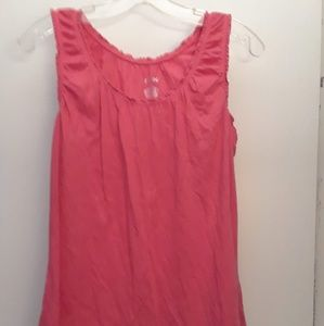 Size L Pink Sleeveless Top NWOT